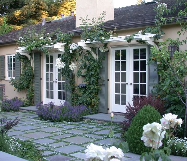 My inspired French door look for the backyard look.