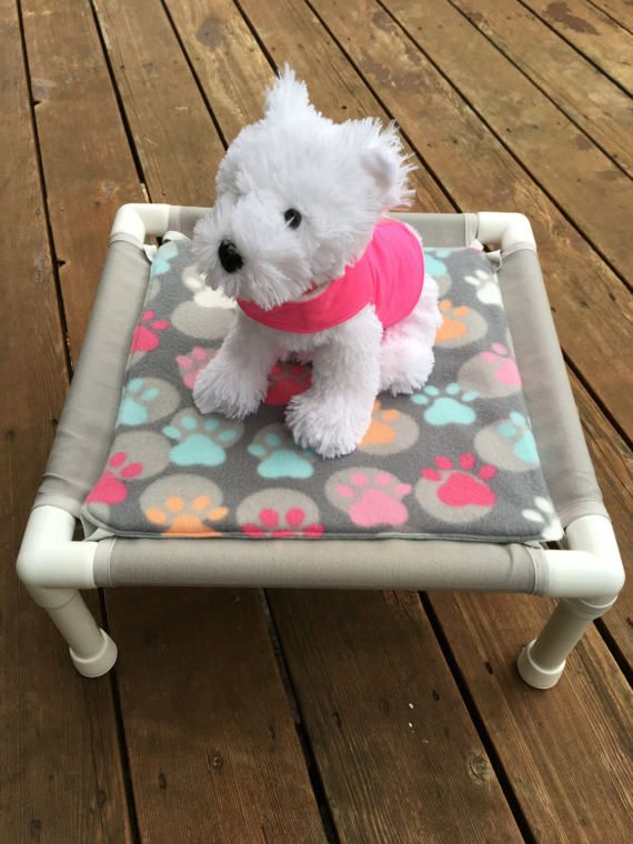 Small PVC Dog Bed with Waterproof Cushion