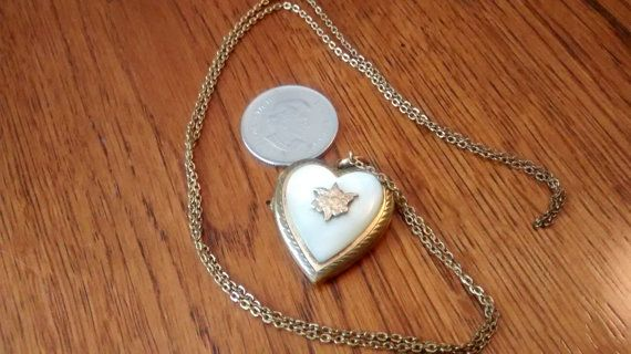WWII Brass Locket for sale (SOLD) by TheresasTimeMachine on Etsy