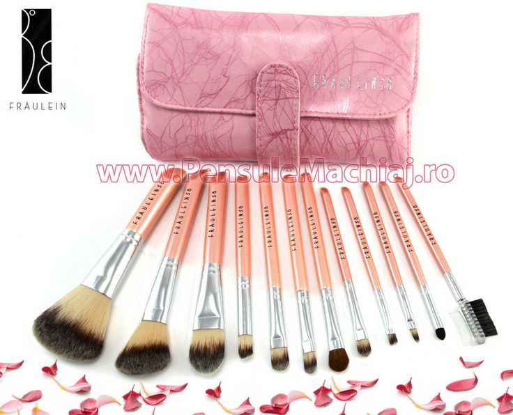 Set 12 pensule machiaj Pink Premium Fraulein38