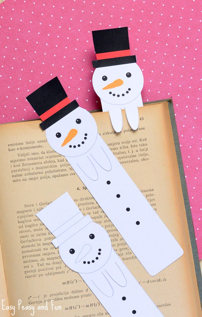 Printable Snowman Bookmarks Christmas Snowman Snowman Crafts