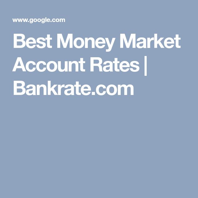 Best Money Market Account Rates | Bankrate.com