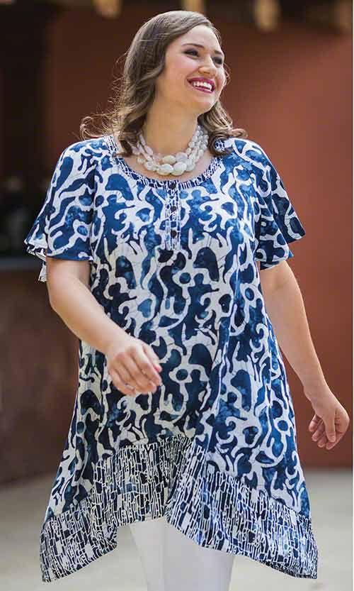 Kalliope Tunic/ MiB Plus Size Fashion for Women