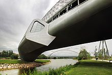 Zaha Hadid - Bridge Pavilion in Zaragoza, Spain.