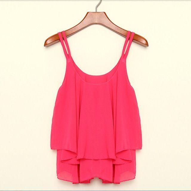 4 colores Mujeres coreanas Chaleco Sin Mangas Bicapa Loose Casual Camis Tops blusinhas camisa corta branca