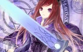 Bildergebnis für anime girl brown hair purple eyes