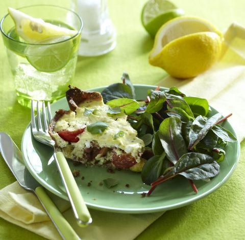 LCHF opskrift   Tærte med bacon og squash