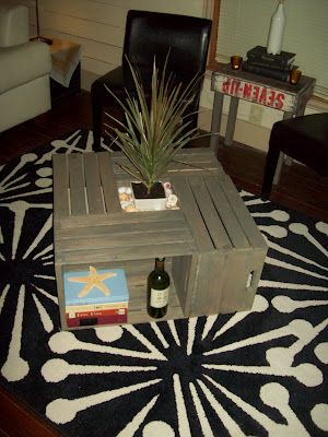 36 best disappearing water fountains images on pinterest for How to make a coffee table out of crates