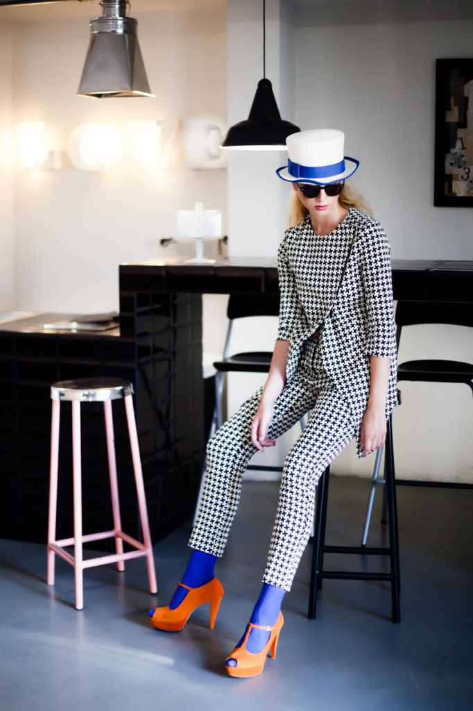 #Fashion #Campaign #FallWinter 2014/2015   #hopperfactory #tweed #coral #shoes #hat #model #style #ootd