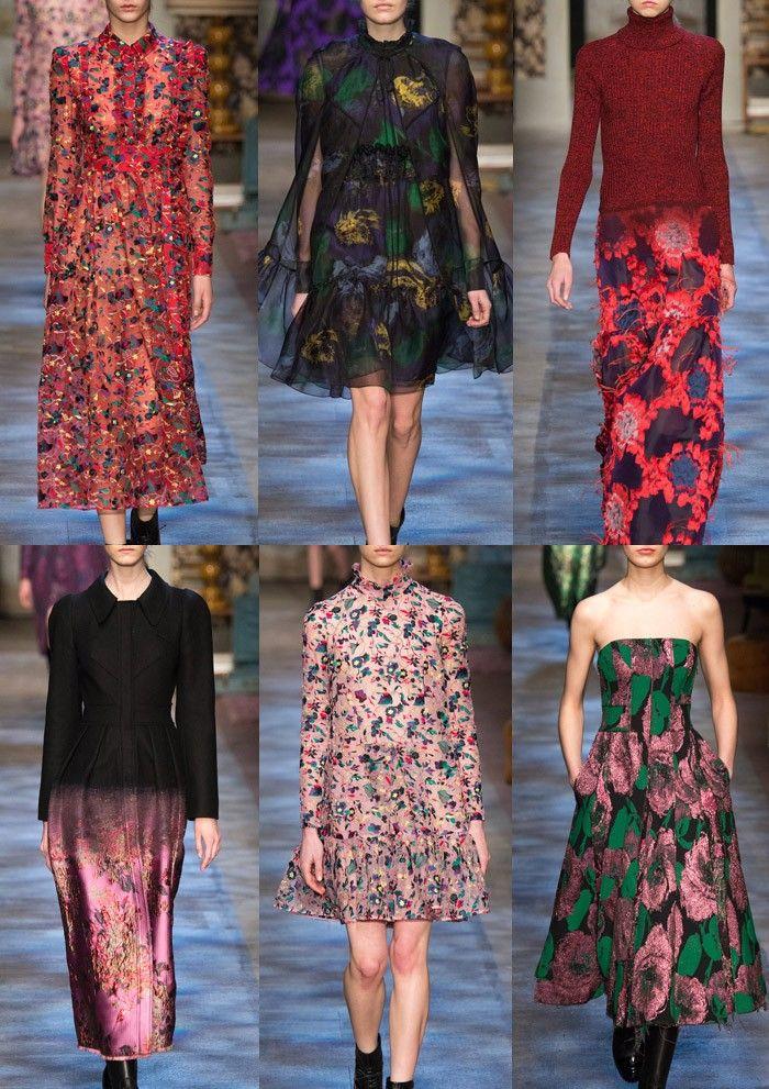 ERDEM l Vintage Print Vibe – Leopard prints – Floral Plays – Damask Motif Pattern – Art Collector Inspired Prints –  Wallpaper Pattern References LONDON Fashion Week