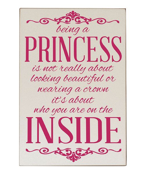 Look at this Cream   Pink  Being a Princess  Wall Plaque on  zulily today!   55676df231b