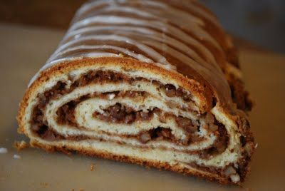 German Nut Strudel -- a Christmas-time tradition. These would be sold at every shop, school bake sale and church bazaar in the winter when I lived in NE PA.