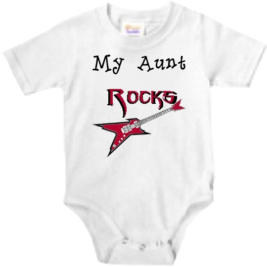 37 best aunt gifts images on pinterest aunt gifts baby bodysuit my aunt rocks baby bodysuit negle Image collections