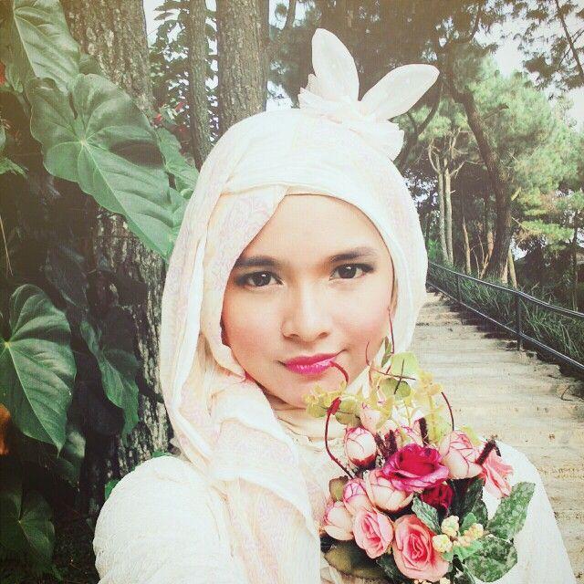 Hijab with rabbit headpiece