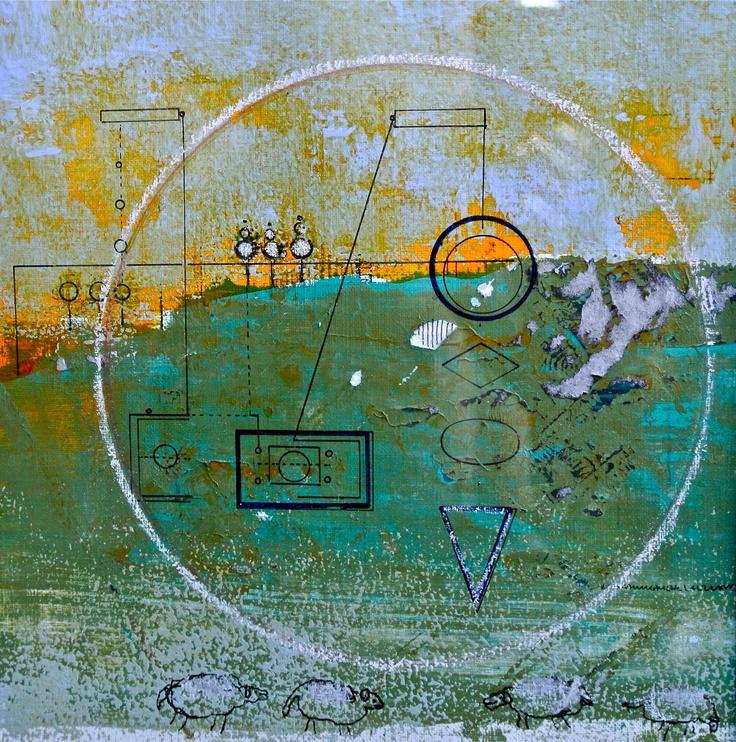 Title: Innenfor og utenfor. Mixed media. Work by Marianne Mehl Lauvland