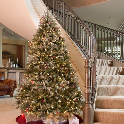 snowy dunhill full pre lit christmas tree the holidays just arent complete until you have a beautifully decorated tree glowing in your favorite room - Amazon Christmas Trees