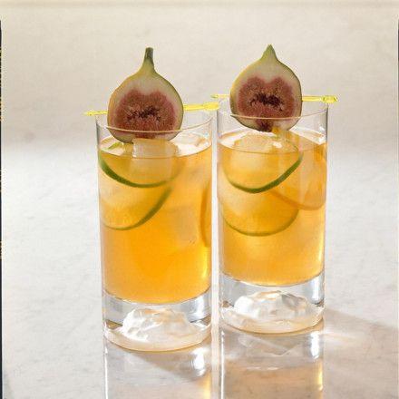 Zitronentee mit Wodka und Feige Rezept