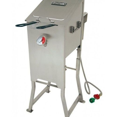 Outdoor Fryer Gas Turkey Deep Pot Stove Fish Shrimp Fries Hush Puppies Grills