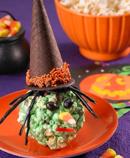 Halloween Witchy Popcorn Balls #recipe