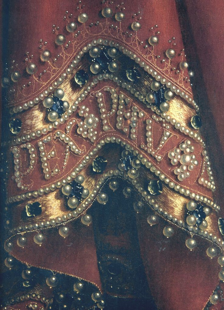 Jan & Hubert van Eyck, Detail from the robe of God Almighthy in the Ghent Altarpiece, c. 1425-1432, Ghent, St. Bavo Cathedral (Image © Wikimedia Commons)