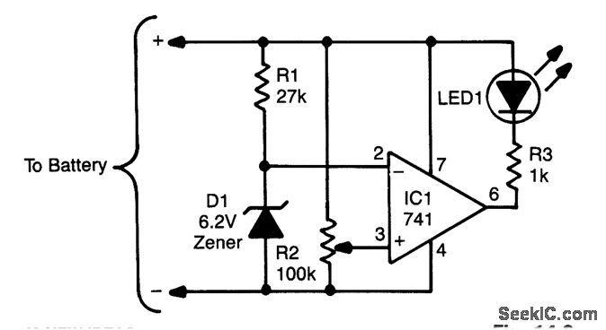 circuito indicador regul u00e1vel de bateria fraca