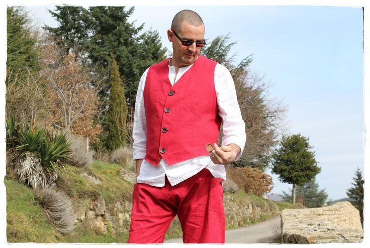 Costume deux pièces pour hommes - baggy sarouel