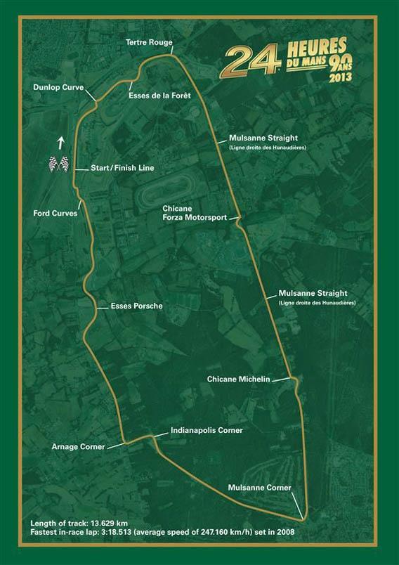 Le Circuit de la Sarthe pour les 24 Heures du Mans