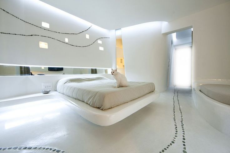 catKlab Architecture, Futuristic Architecture, Futuristic Design, Bedrooms Interiors Design, Hotels Interiors, White Bedrooms, Cocoon Suits, Modern Interiors, White Cat