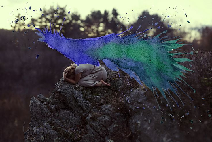 Photographs and Watercolors Merge in Surreal Paintings by Aliza Razell