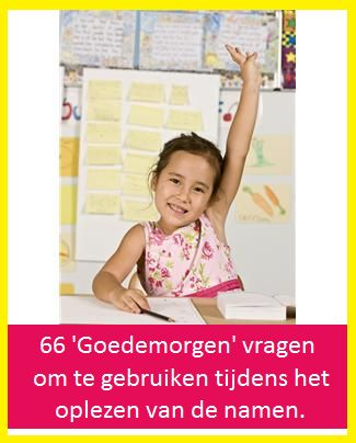 Goedemorgen! - KlasvanjufLinda.nl - vol met leuke lesideeën en lesidee