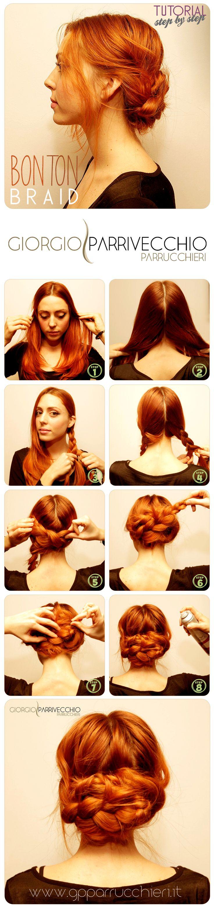 Nuovo #Tutorial: Bon Ton #braid… per chi desidera sperimentare nuovi look!!! Segui passo passo i consigli di Angela Fiorella Art Director del team GP Parrucchieri!!! Provaci anche TU e condividi la tua #bontonbraid… #gpforyou #gpparrucchieri #fototutorial #hairtutorial #hair