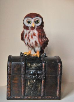 Needle felted owl by SkojSkoj