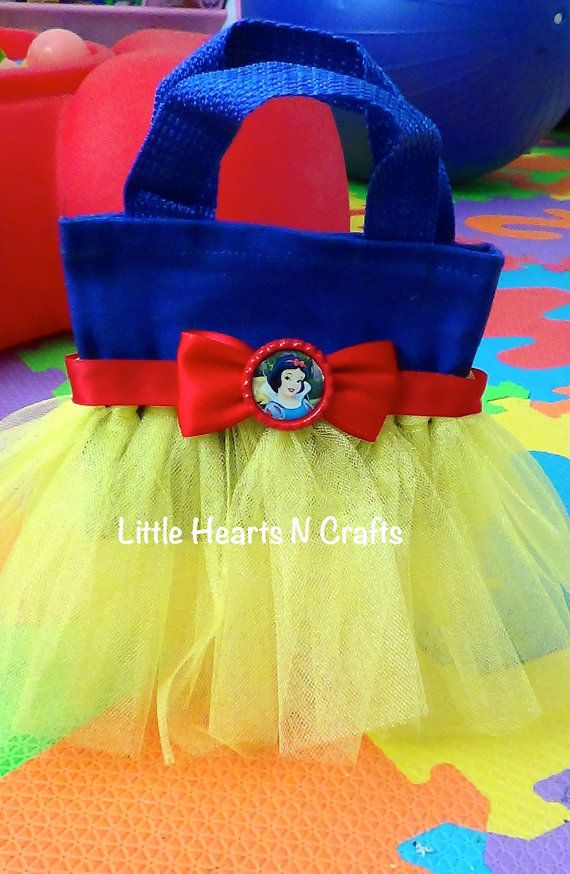 Snow White Inspired Tutu Purse Canvas Tote por LittleHeartsNCrafts, $8.50