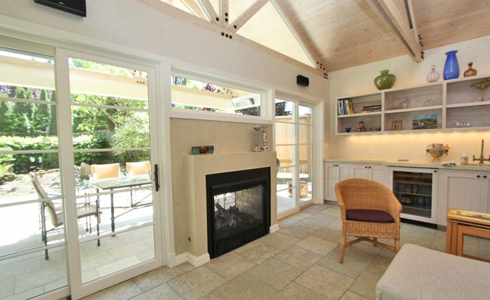 Indoor Outdoor Fireplace Double Sided | Interior House Designs ...