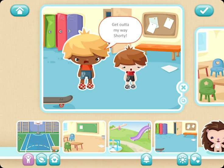 Use TOONIA STORYMAKER to write an anti-bullying story or message. Suitable for lower-middle primary, lots of great characters and settings. Easy to use, well-polished app.