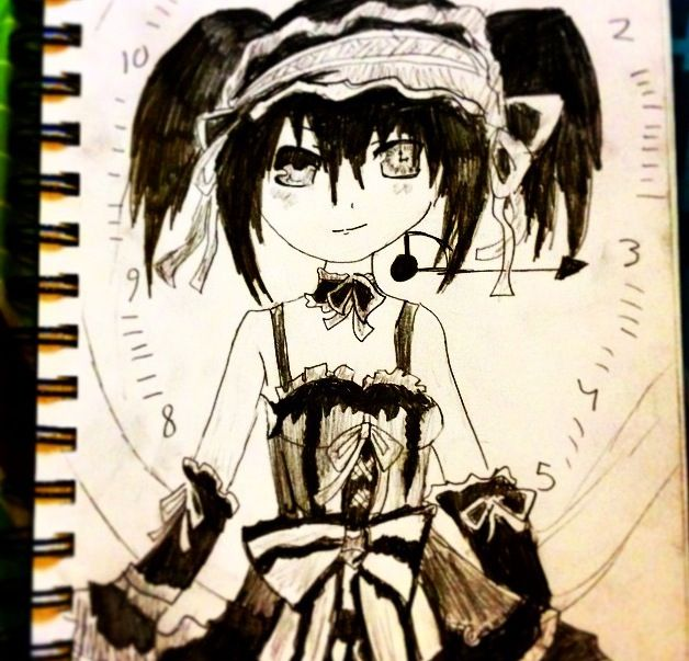 Clock Eye Anime Girl Anime Anime Drawings Art