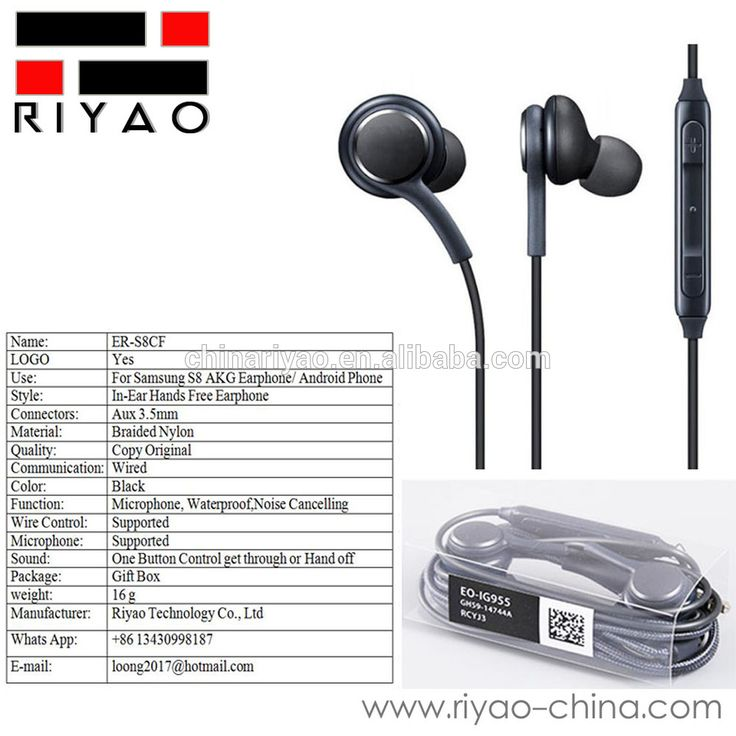 ER-S8CF Copy Original Stereo Headset Earphone for Samsung AKG Galaxy S8 S8+ Earbuds and Mic