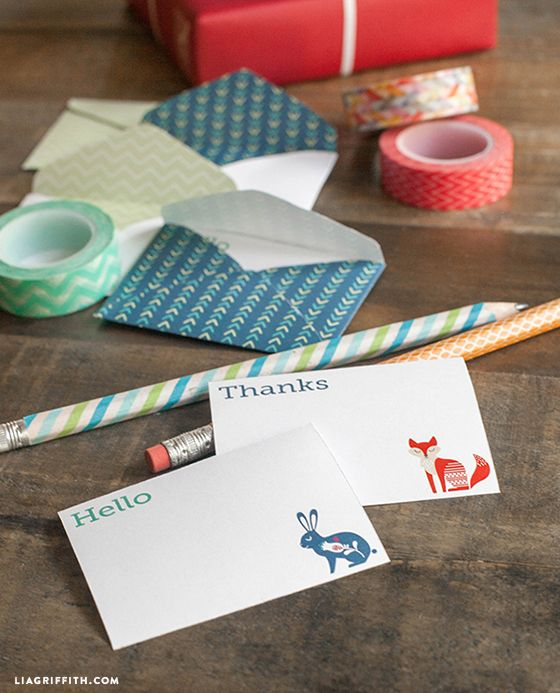 Mini note cards and envelopes