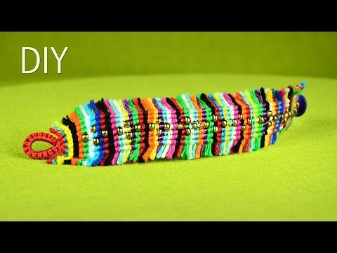 ▶ Colorful Boho Chic Macramé Bracelet Tutorial - YouTube