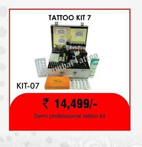buy semi professional tattoo kit in promotion offers in Rs 14499/- only at mumbai tattoo www.mumbaitattoo.com now cash on delivery also available in mumbai tattoo supply. whats up me your order on this no 9029993269 / 9867964753