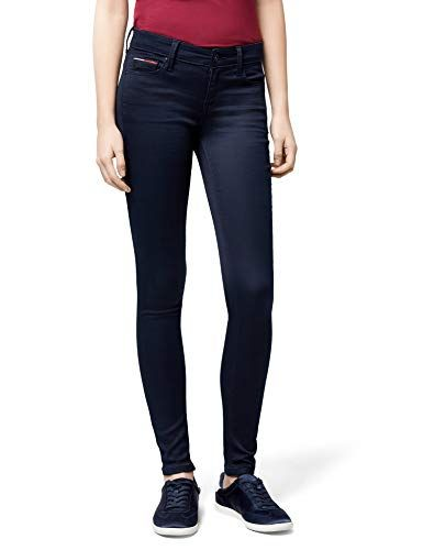 39522017 Tommy Jeans Women's Mid Rise Nora Skinny Jeans Boogie Blue Stretch W30/L32
