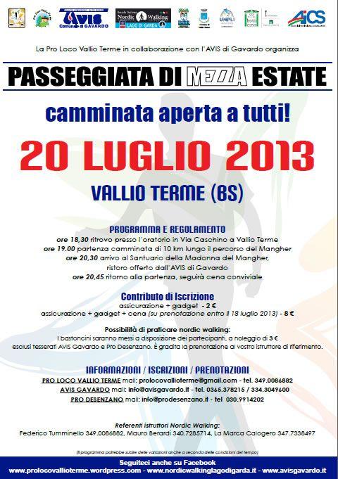 Passeggiata di Mezza Estate a Vallio Terme http://www.panesalamina.com/2013/14094-passeggiata-di-mezza-estate-a-vallio-terme.html