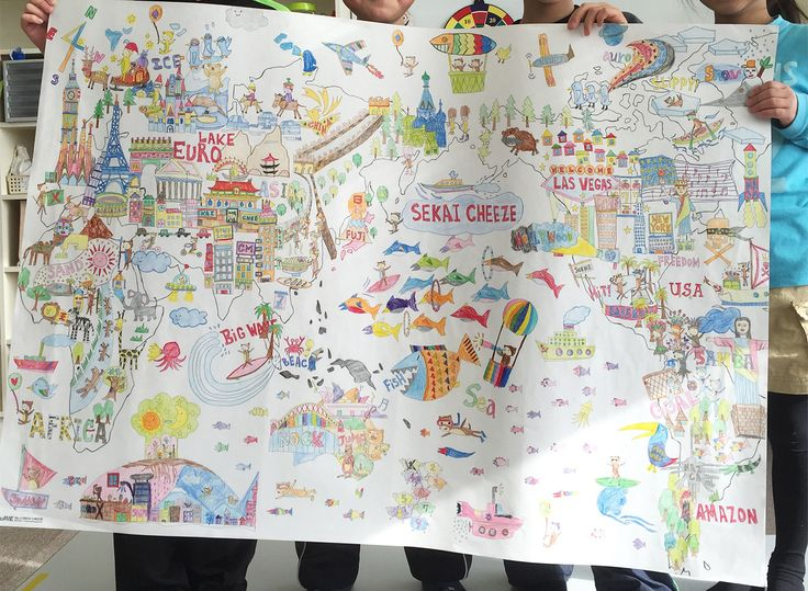 Fantastic completed NuRIE colouring map! - World map