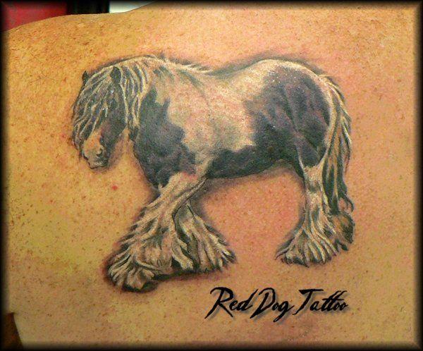 Horse tattoo by Reddogtattoo.deviantart.com on @deviantART