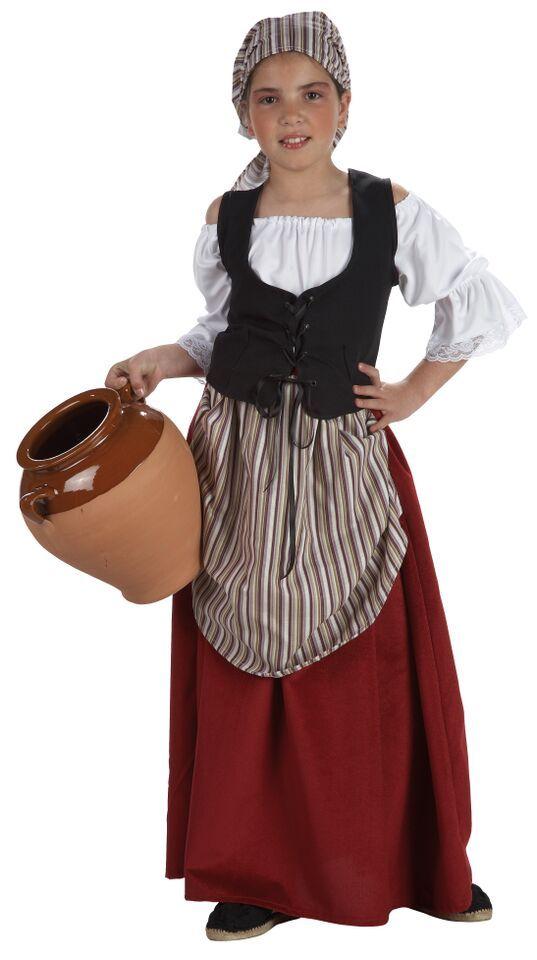 DisfracesMimo, disfraz mesonera medieval niñas varias tallas.para vestir a la pequeña de la casa con este disfraz mesonera infantil,campesina o tabernera en las ferias medievales.Este disfraz es ideal para tus fiestas temáticas de disfraces medievales o epoca para niñas.