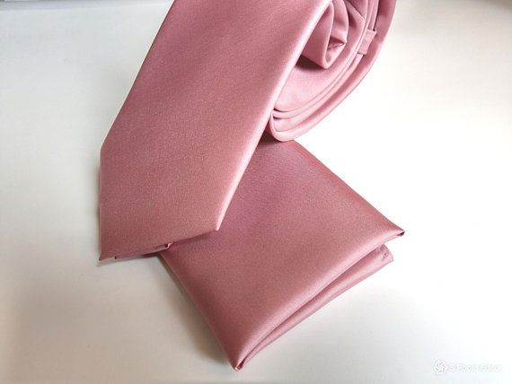 Handmade Rose Quartz Satin Classic Men/'s Tie Wedding Tie Regular Tie Prom Tie