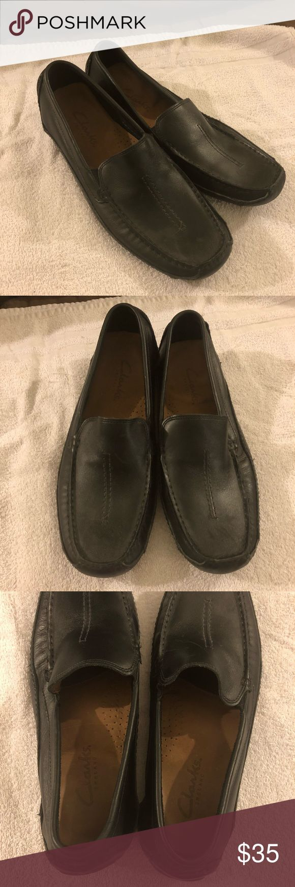 Clarks England Black Driving Loafers 10M Clarks England Black Driving Loafers Size 10M! Like new! Worn once! Beautiful shoes!  Please make reasonable offers and bundle! Ask questions :) Clarks Shoes Loafers & Slip-Ons