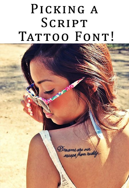 Script Tattoo Fonts  Picking a script tattoo font is one of the most fun parts about getting it. There are literally thousands to choose from, and if you combine them, you can create...