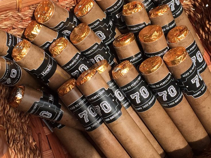 Rolo Cigars, Rolo Cigars party favors, 70th Birthday party Cigar Favors,Birthday Party Cigar Favors,Rolo Cigar birthday favors. Set of 24 by WrapItUpWrapper on Etsy