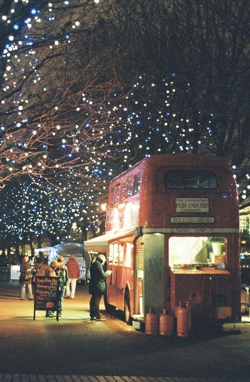 Fish and Chips from a converted double decker, London  (by Berk Akşen)